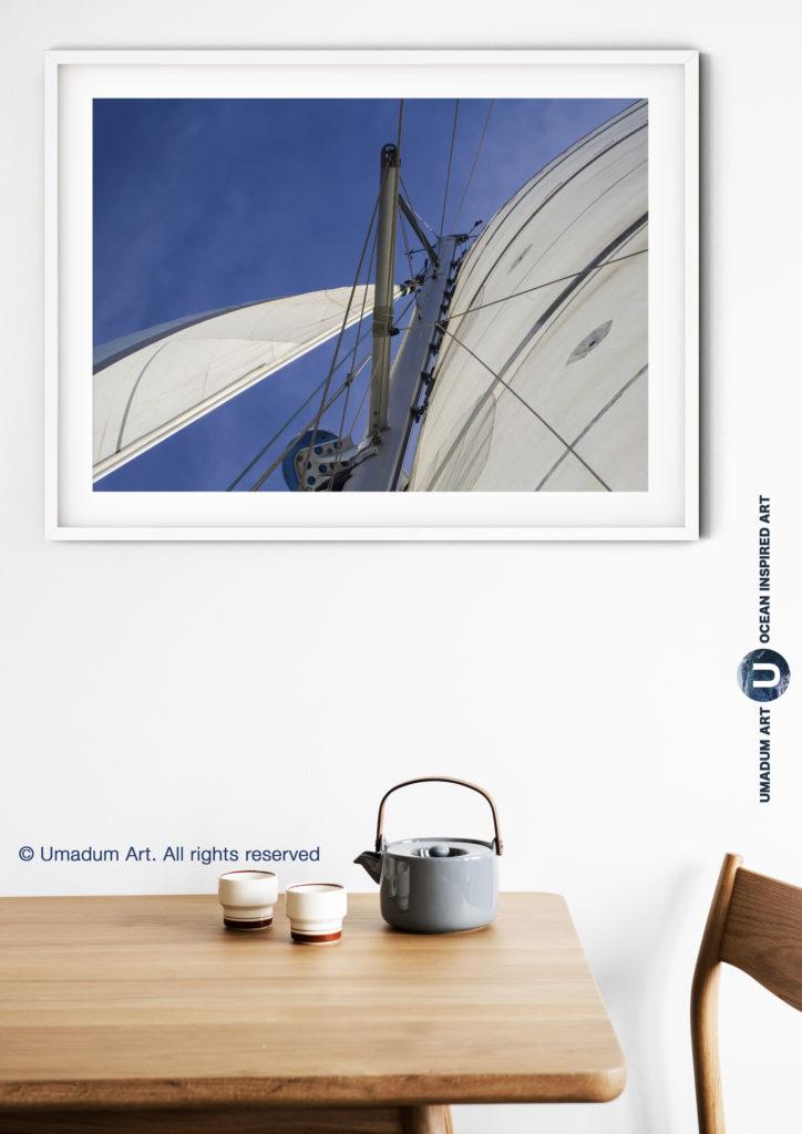 sailing print, sailboat poster
