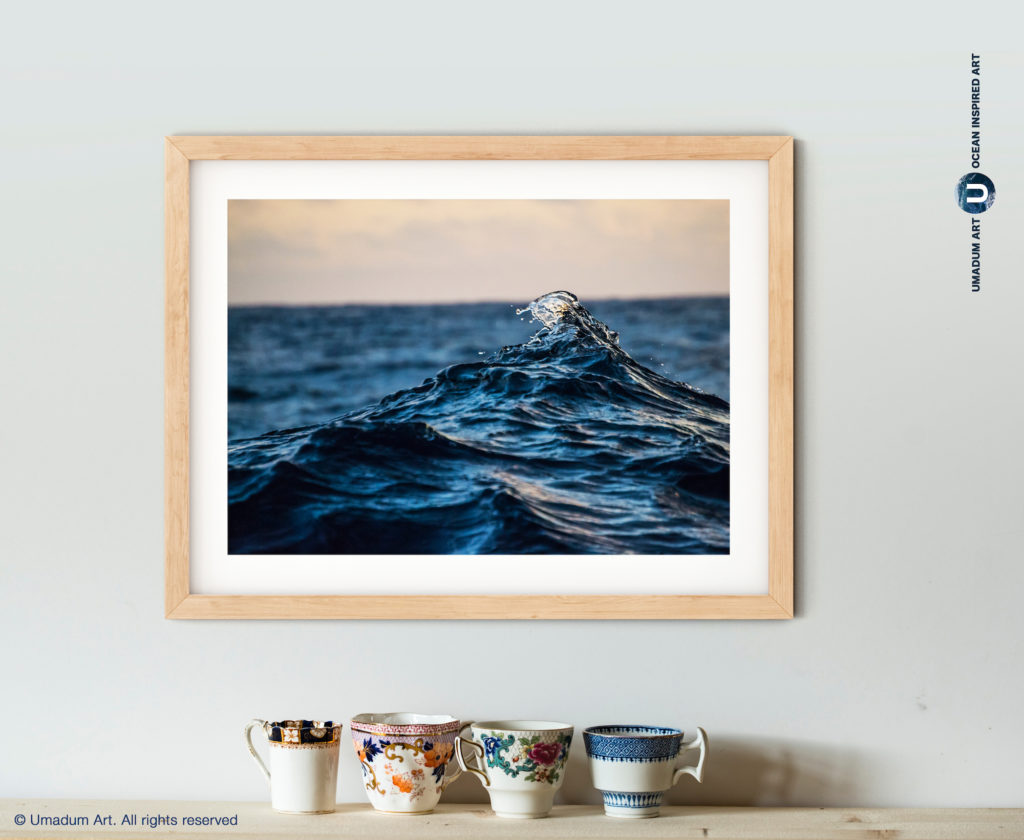 crushing ocean waves art