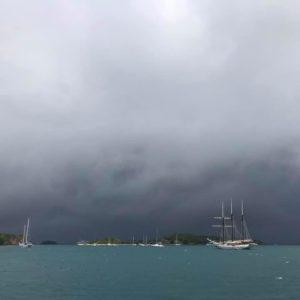 The Hurricane season in the Caribbean